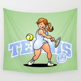 Tennis, Hit'm hard Wall Tapestry