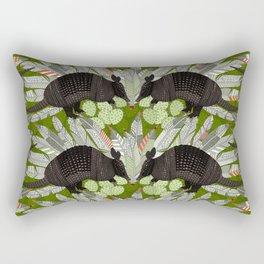 native armadillos green Rectangular Pillow