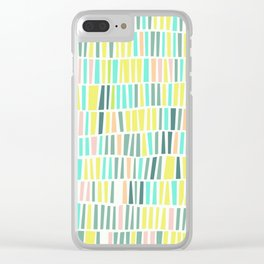 Terrazzo pastel overlay Clear iPhone Case