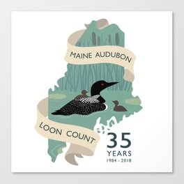 Maine Audubon Loon Count 35 Years Canvas Print