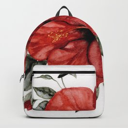Blooming Red Hibiscus Backpack