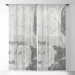 the vow of a hunter Sheer Curtain