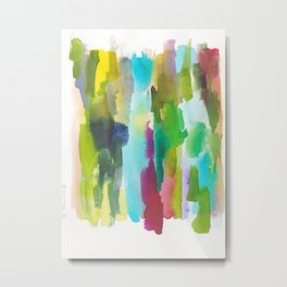 180812 Abstract Watercolour Expressionism 2 | Colorful Abstract | Modern Watercolor Art Metal Print