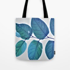 blue leaves pattern Tote Bag