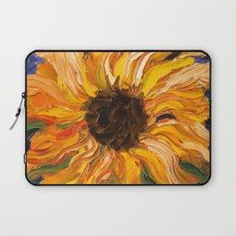 Fiery Sunflower - Original Painting Laptop Sleeve