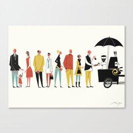 Coffee Bike, Copenhagen Canvas Print