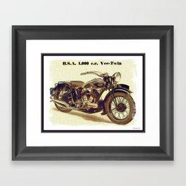 1937 BSA. Motorcycle Framed Art Print