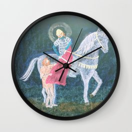 St. Martin and the Beggar Wall Clock