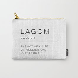 Lagom Definition Carry-All Pouch