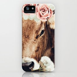 Glamour cow iPhone Case