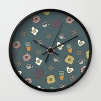70s Wall Clocks featuring 70S Cafe by Cale potts Art