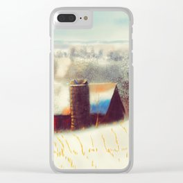The Barn Over The Hill Clear iPhone Case