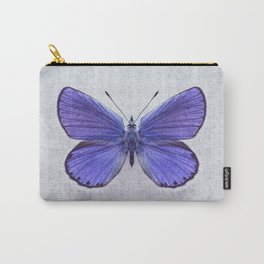 Violet Butterfly on Floral Background. Carry-All Pouch