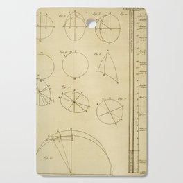 Jérôme Lalande's Astronomie (1771) - Geometric Calculations regarding Planetary Bodies 11 Cutting Board