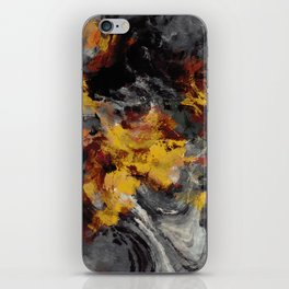 Yellow / Golden Abstract / Surrealist Landscape Painting iPhone Skin