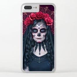 Santa Muerte Clear iPhone Case