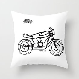 Ride On! Throw Pillow