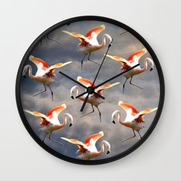 Flamingo World Wall Clock