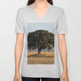 The lone tree Unisex V-Neck
