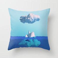 Iceberg & Whale 2 Throw Pillow