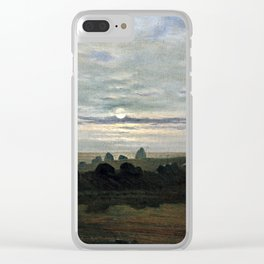 Carl Gustav Carus Stone Age Mound Clear iPhone Case