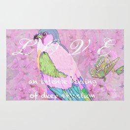 BIRD LOVE AND BUTTERFLIES Rug