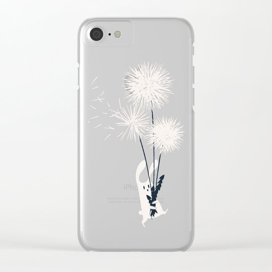 Bunny and Dandelion Bouquet Clear iPhone Case