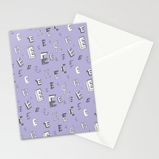 Letter Patterns, Part E Stationery Cards