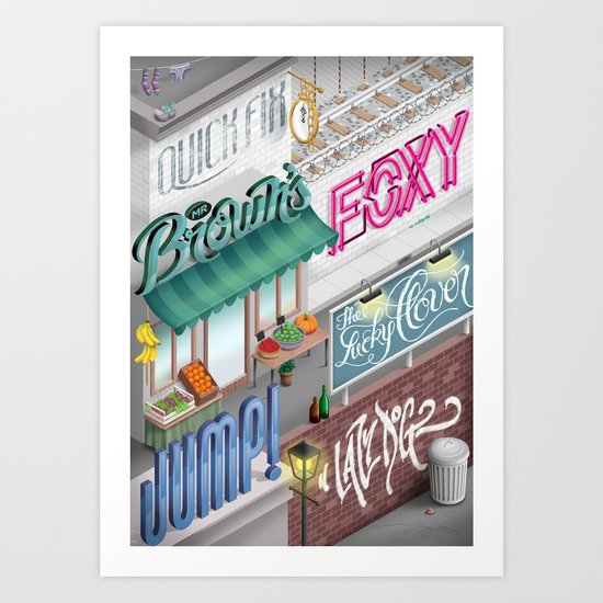 City Pangrams Art Print