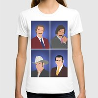 anchorman T-shirts featuring News Team Assemble - Anchorman by Tom Storrer
