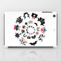 psychology iPad Cases featuring Rorschach test subjects' perceptions of inkblots psychology   thinking Exner score  by Luxorama