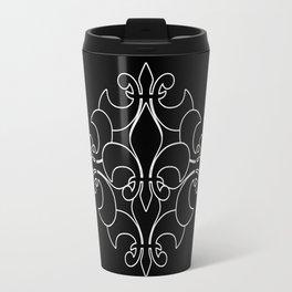 Fleur de lis ...Five Reversed Travel Mug