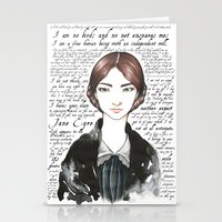 jane eyre Stationery Cards featuring Jane Eyre by Makissima