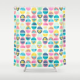 Slice of Happy Shower Curtain