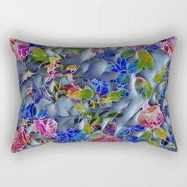 embossed floral Rectangular Pillow