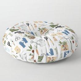 Kitchen Garden Pattern Floor Pillow