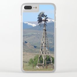 Colorado farming landscape Clear iPhone Case