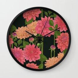 idyllic // dahlia Wall Clock