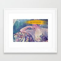 bohemian Framed Art Prints featuring Bohemian by PixelFarmer