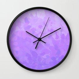 Floral Ombre (Violet) Wall Clock