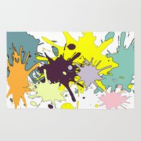 splatter Area & Throw Rugs featuring Splatter by fauzita