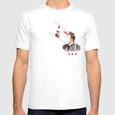 TROUBLESHOOT Mens Fitted Tee White MEDIUM