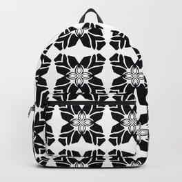 Black on White Leaf Quilt Backpack
