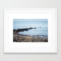 denmark Framed Art Prints featuring Denmark Beach by Kayleigh Rappaport