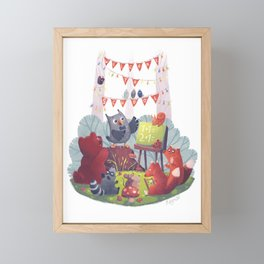 First Day of School Framed Mini Art Print