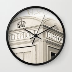 London telephone booth Wall Clock