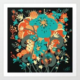 Grettel's Bouquet Art Print