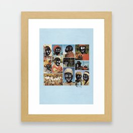 Faces of Sunday-5 Framed Art Print