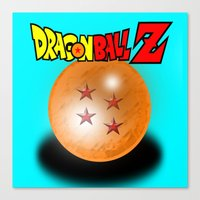 dragonball z Canvas Prints featuring Dragonball Z, 4 star by Metalot