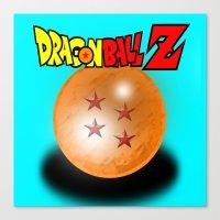 dragonball Canvas Prints featuring Dragonball Z, 4 star by Metalot